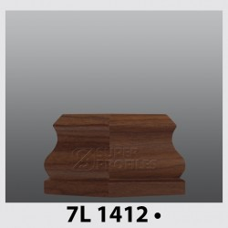 قرنیز کد ( CODE:7L )  به رنگ  گردویی 1412