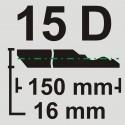 قرنیز 15 سانت به طول 3.66 متر طرح دکووار