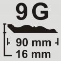 قرنیز 9 سانت به طول 3.66 متر طرح گلدن وود